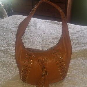 Michael Kors Soft Leather Hobo Tassel Lace Bag